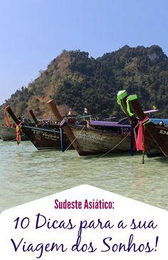 As melhores dicas de viagem para o Sudeste da Ásia! Como planejar suas férias, dicas sobre segurança, roupas, malas e transporte! Tudo que você precisa saber para organizar sua viagem dos sonhos na Ásia.  via @loveandroad