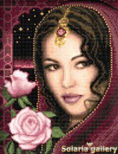 Solo Patrones Punto Cruz (pág. 662) | Aprender manualidades es facilisimo.com  Belleza con joyas