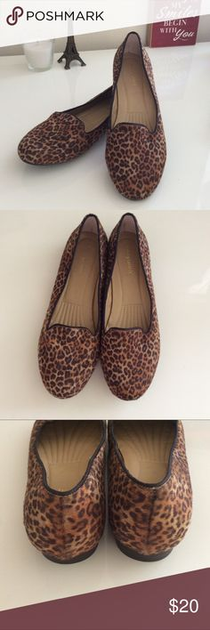 Leopard print faux fur flats 7.5 Brand new without tags easy spirit faux fur leopard print flats. Women's shoe size 7.5. Perfect for the fall with leggings, jeans or even slacks! Easy Spirit Shoes Flats & Loafers