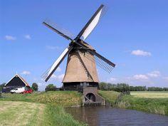 Polder mill Poldermolen O, Schermerhorn, the Netherlands.