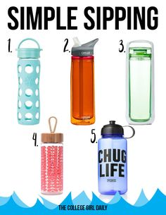 Cute water bottles to keep you hydrated