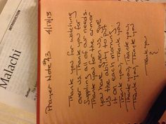 Prayer Note #43
