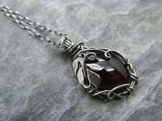 Bought this January birthstone garnet necklace  Sterling silver