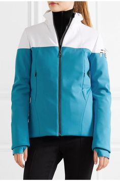 Fendi - Two-tone Ski Jacket - Sky blue - IT40