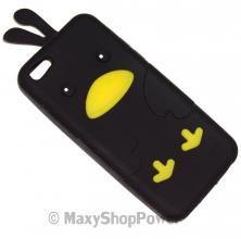 BIRD CUSTODIA SILICONE TPU CASE APPLE IPHONE 5C NERA BLACK NEW NUOVA IDEA REGALO - SU WWW.MAXYSHOPPOWER.COM