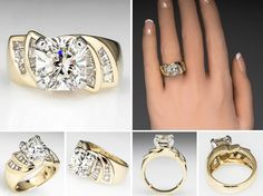 This magnificent 3.4 carat diamond engagement ring is crafted of solid 18k gold. The center stone is gorgeous grading L in color and VS2 in clarity. The massive center diamond is set in an 18k white gold head and accented with tapered baguette cut diamonds. The diamond is truly a site to see, it is ready to make one lucky girl very happy. Contact us if you are interested in the center stone separate from the mounting.