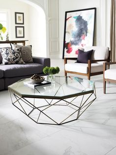 Four Hands Geometric Coffee Table