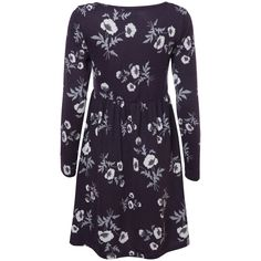 Purple Scattered Poppies Tunic Dress