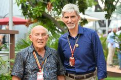 Stirling Moss and Damon Hill Damon Hill, Blues, F1 Racing, Indy Cars, Stirling, Car And Driver, F 1, Grand Prix, Singapore