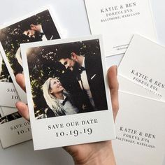 Polaroid wedding - Love the Polaroidinspired 'Save The Date' idea, created by 💞bridesjournal weddingstationery weddinggoals chicbride… Marie's Wedding, Wedding Goals, Wedding Guest Book, Wedding Cards, Wedding Planning, Wedding Ideas, Wedding Dresses, Elegant Wedding, Rustic Wedding
