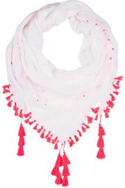 Tasseled voile scarf