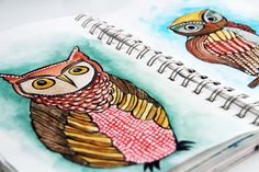 lots of adorable owls by Alisa Burke