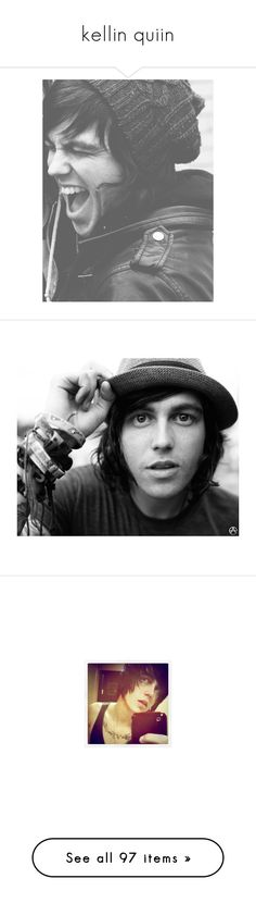 """kellin quiin"" by unamusingriver ❤ liked on Polyvore featuring backgrounds, bands, pictures, kellin quinn, photos, people, pics, music, sleeping with sirens and guys"