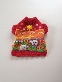 Adorable XXS dog sweater handmade 100 cotton by thespecialdetails, $28.00
