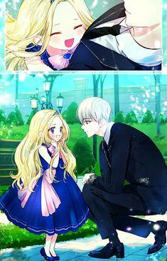 Chica Anime Manga, Anime Chibi, Anime Art, Angel Princess, Romantic Manga, Anime Family, Anime Angel, Manhwa Manga, Blue Butterfly