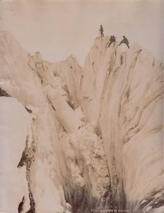 Gerge Tairraz, Ascension au Mt Blanc, albumen print