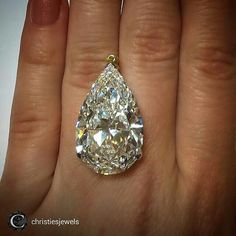 A magnificent #peargasm rolled into a #graffgasm from @christiesjewels Pear-shaped pendant weighing 25.49 carats by @graffdiamonds #ChristiesJewels #GraffDiamonds #graffworshipper #WANTNEEDDESIRECOVET #mrsortonsjewelporninstaglam #sparkaliciousfabulosity #jewelgasms #jewelleryporn #jewelleryaddicted #drooltastic #droolstagram #diamondology #diamondtastic #Diamondporn #diamondenvy @mrs_orton #finejewellery #highjewellery #hautejoaillerie #pearporn #peardiamonds #pearpassion