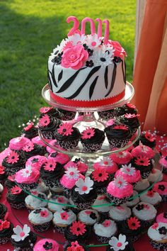 Maybe that other cake in little version and cupcakes like this! That would be so cool. Because I love cupcakes :)