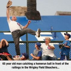 Nice Catch, Credit where credit is due...nothing to do with age....it's his belief in himself...good on him :)