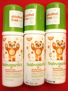 Babies love to touch everything! But what about those germs? Use Babyganics alcohol & fragrance free foaming hand sanitizer in On-The-Go pump bottles 1.69 oz.. Also free of triclosan, parabens, sulfates, and phthalates,