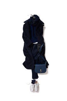 kk-c ~lisa, navy @ 9 January Daily Fashion, Girl Fashion, Fashion Outfits, Womens Fashion, Just Style, Looks Style, Japanese Outfits, Japanese Fashion, Fashion Capsule