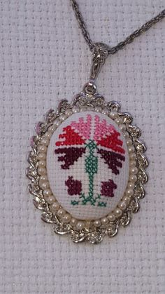 Teşekkürler Sevgili Filiz Türkocaği:) Crossstitch, Mini, Needlework, Diy And Crafts, Pendant Necklace, Embroidery, Handmade, Jewelry, Stud Earrings