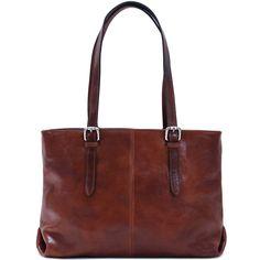 Floto Venezia Italian Leather Shopping Tote Bag Shoulder Bag Women's (Vecchio Brown) Shoulder Handbags, Shoulder Bag, Work Handbag, Best Purses, Brown Leather Totes, Italian Leather, Canvas Tote Bags, Leather Purses, Shopping
