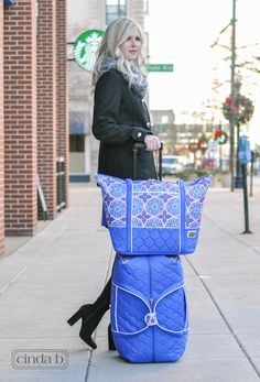 Traveling for the holidays ·winter fashion ·winter style ·cinda b ·fort wayne ·made in america ·travel bags ·luggage ·holiday style