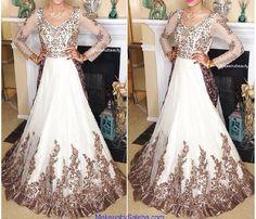 White bridal gown, makeup by saleha abbasi Nice Dresses, Prom Dresses, Formal Dresses, Wedding Dresses, Indian Dresses, Indian Outfits, Anarkali Frock, Desi Bride, Desi Wear