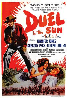 Duel in the sun.  Selznick was trying for another GWTW.  A great deal of effort was lavished on this film.