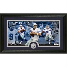 "Tony Romo Dallas Cowboys 12"" x 20"" Minted Coin Panoramic Photomint"