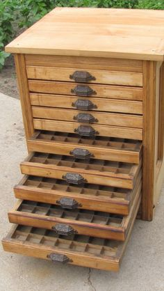 Type cabinet.---remove dividers and use as jewelry display case