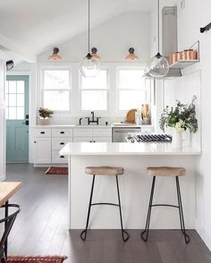 """2,101 Likes, 13 Comments - domino (@dominomag) on Instagram: """"Your favorite DIY-extraordinaire @ispydiy flipped a 125-year-old house—and the results are, as…"""""""