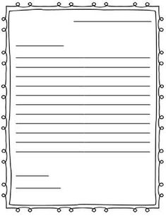 This is a simple outline that you can use with any friendly letter. It includes lines for the five parts of the letter and provides a little extra room for the body (for the more advanced writer).  If you download, please leave me some feedback! Thanks :)