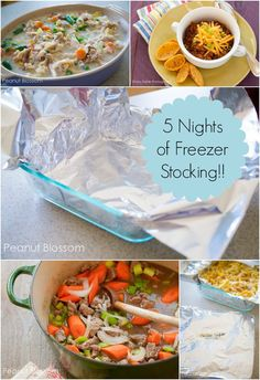Freezer meals to get you through the week