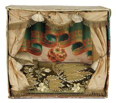 """""""For the Love of the Ladies"""" - October 1-2, 2016 in Phoenix, AZ: 179 Early English Day Bed with Painted Walls and Gilt Thread Embroidered Fittings"""