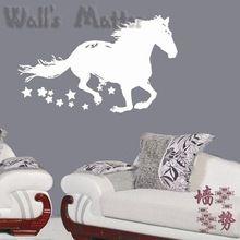 dier paard lopen home decor muurstickers decoratie sticker mode schattig waterdichte slaapkamer eengezinswoning glas woonkamer sofa(China (Mainland))