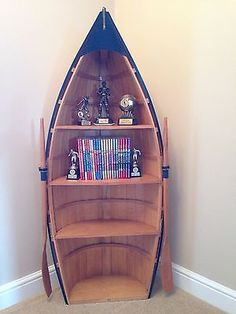 Boat Shaped Wooden Bookcase