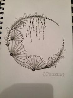 Think this would be great done in ironwork and beads. Zentangle Drawings, Doodles Zentangles, Doodle Drawings, Tangle Doodle, Zen Doodle, Doodle Art, Zantangle Art, Zen Art, Doodle Patterns