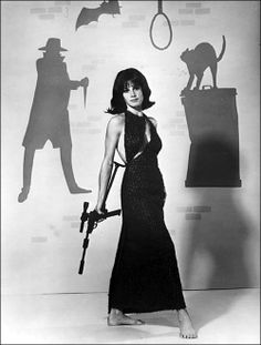 Stephanie Powers 'in what looks like a Halloween publicity shot' for The Girl From U.N.C.L.E. ☚