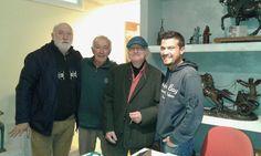 FONDERIA GUASTINI con  (arch. Diego Morlin, Giuseppe (Bepo) Guastini, artista Severino Morlin e Mirco Guastini.