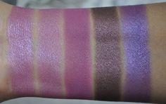 Inglot Eyeshadow From left to right: S39, S39, M392, S40, P441 #crueltyfree #eyeshadow #purple