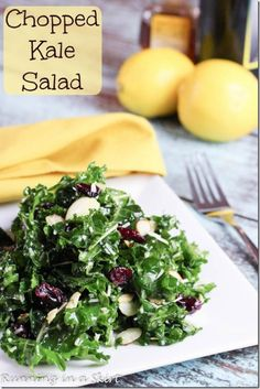 Chopped Kale Salad with Cranberries Pin