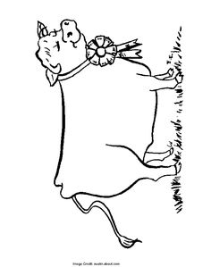 Prize Cow - Free Coloring Pages for Kids - Printable Colouring Sheets