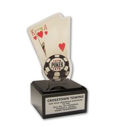 Big Slick Acrylic Cards Trophy