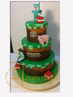minecraft cakes by sepia chocolate