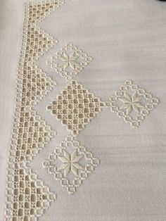 Etsy Embroidery, Embroidery Neck Designs, Hardanger Embroidery, Embroidery Jewelry, Beaded Embroidery, Embroidery Stitches, Easy Cross Stitch Patterns, Doily Patterns, Baby Knitting Patterns