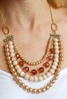 Copper Bib Statement Necklace   by AdornmentsbyWendi on Etsy, $28.00