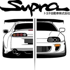 Toyota Supra Mk4, Best Jdm Cars, Honda S2000, Honda Civic, Jdm Wallpaper, E Motor, Bmw Wallpapers, Street Racing Cars, Car Illustration