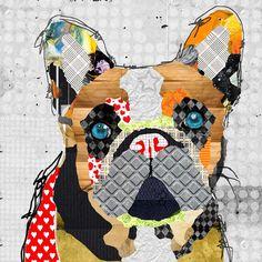 Dog Art of French Bulldog on Canvas Print